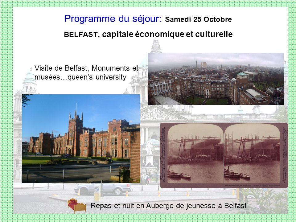 BELFAST, capitale économique et culturelle