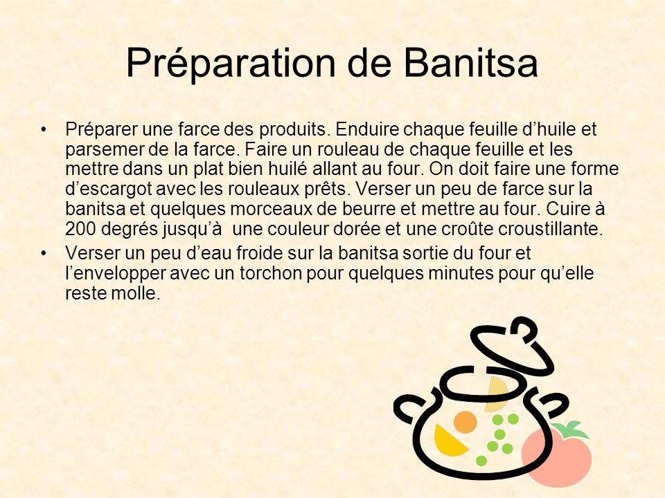 Préparation de Banitsa