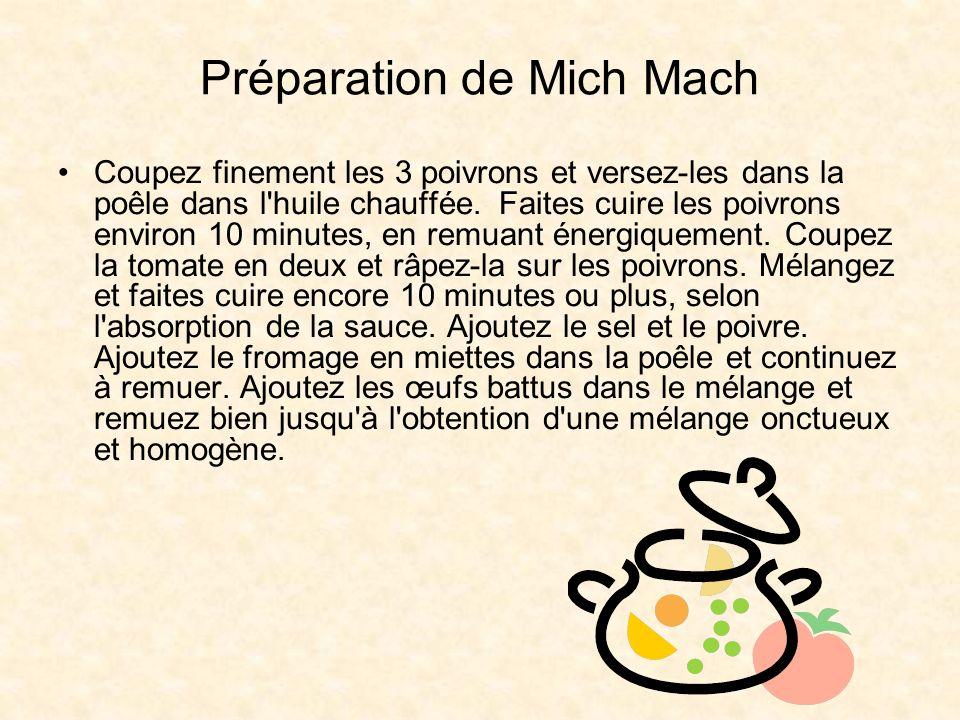 Préparation de Mich Mach