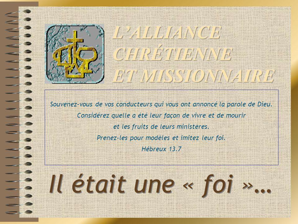 L'ALLIANCE CHRÉTIENNE ET MISSIONNAIRE