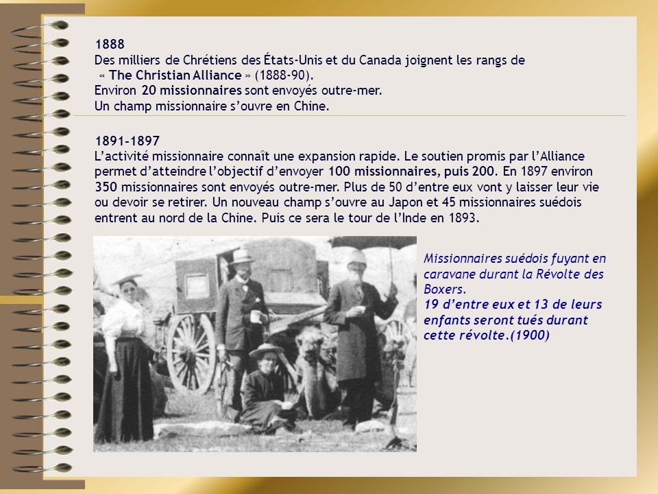 1888 Des milliers de Chrétiens des États-Unis et du Canada joignent les rangs de