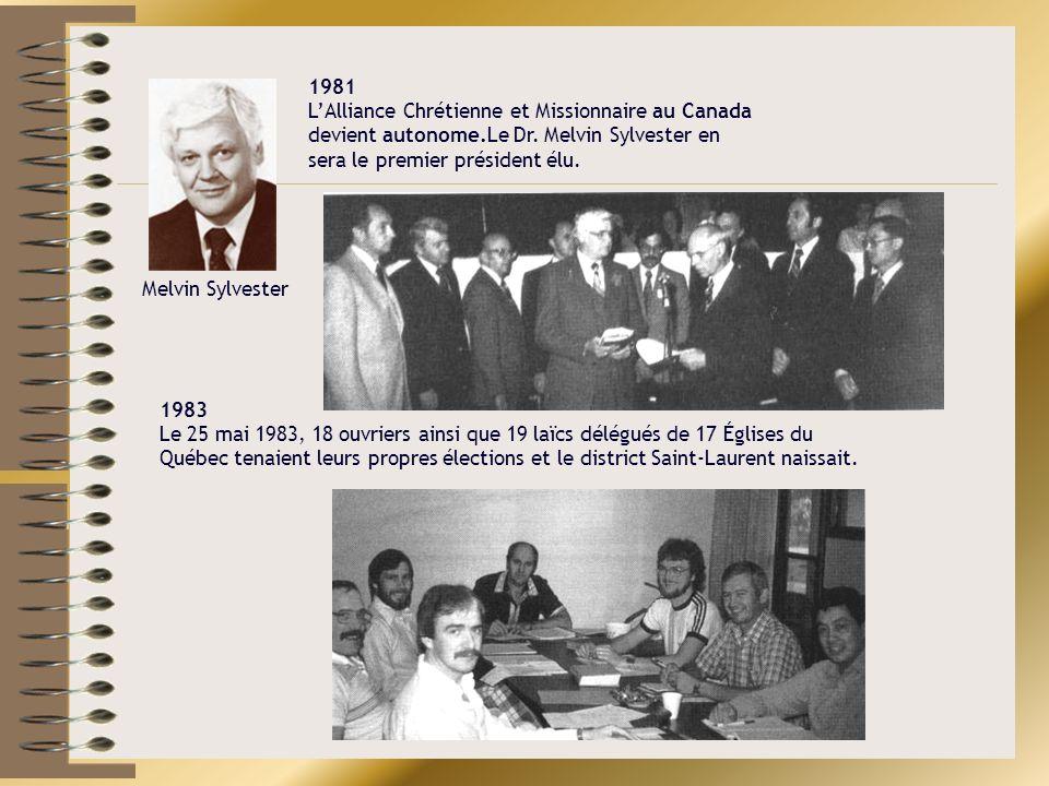 1981 L'Alliance Chrétienne et Missionnaire au Canada