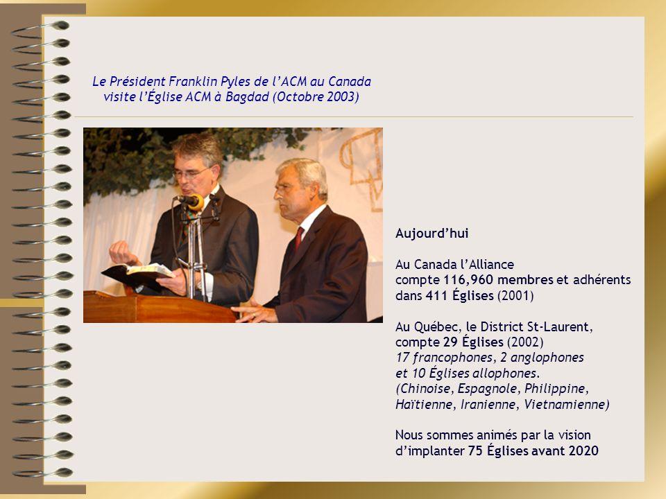 Le Président Franklin Pyles de l'ACM au Canada