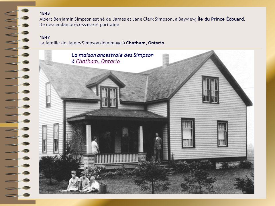 La maison ancestrale des Simpson à Chatham, Ontario