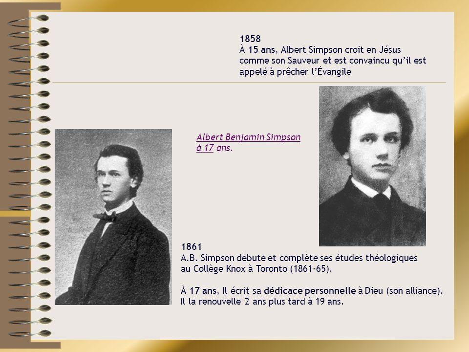 Albert Benjamin Simpson à 17 ans.