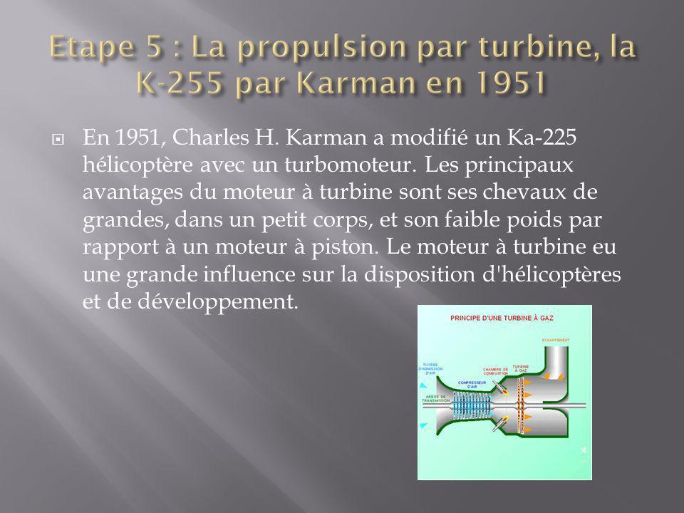 Etape 5 : La propulsion par turbine, la K-255 par Karman en 1951