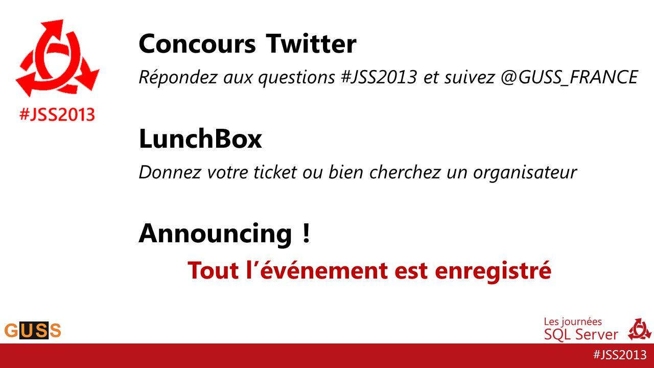 Concours Twitter LunchBox Announcing ! Tout l'événement est enregistré