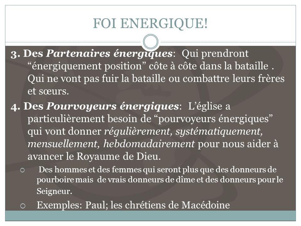 FOI ENERGIQUE!