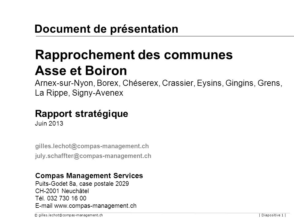 Document de présentation