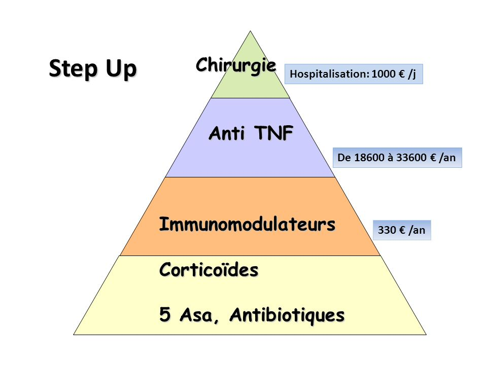 Step Up Anti TNF Immunomodulateurs Corticoïdes 5 Asa, Antibiotiques