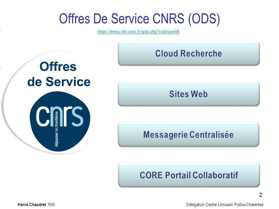 Offres De Service CNRS (ODS)