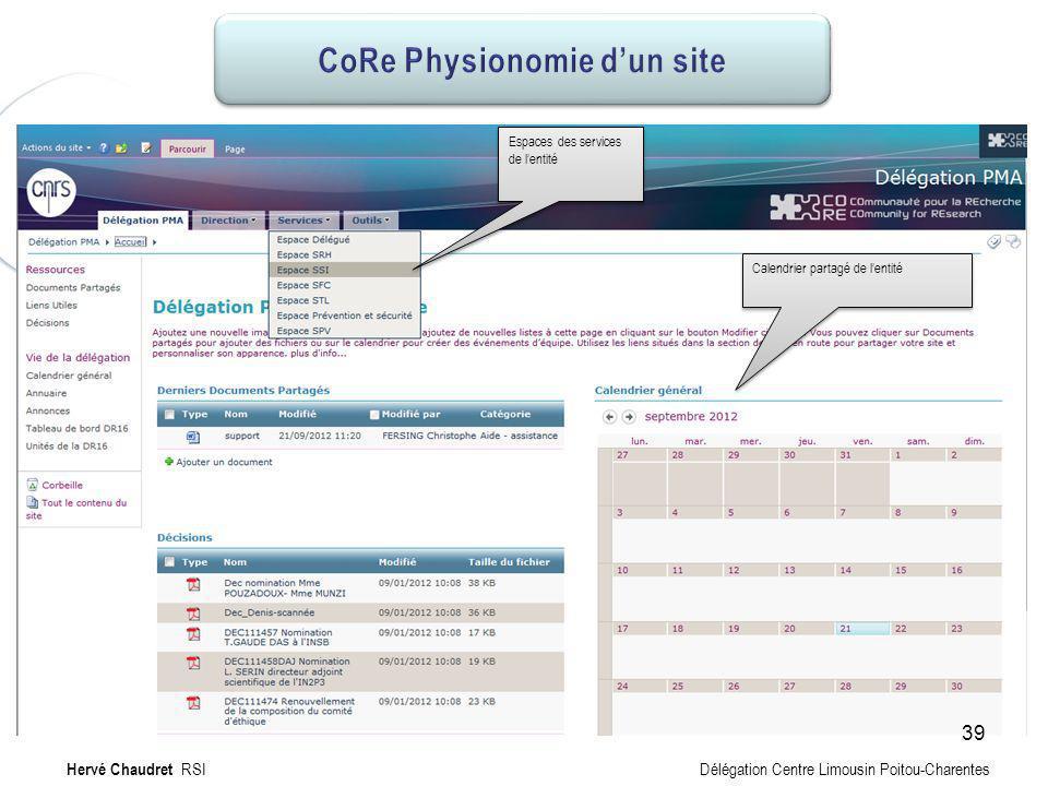 CoRe Physionomie de PMA