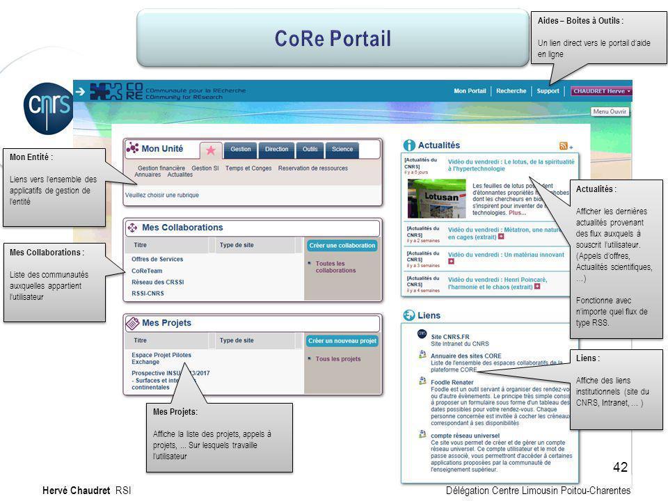 CoRe Portail CoRe Portail : mon site