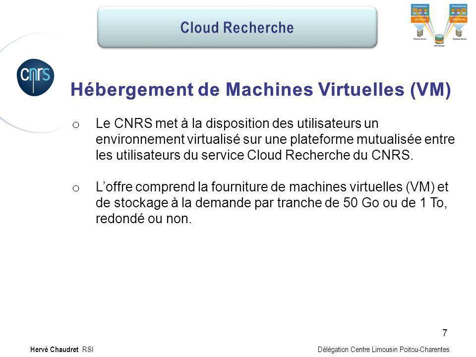 Hébergement MV : Offre Hébergement de Machines Virtuelles (VM)