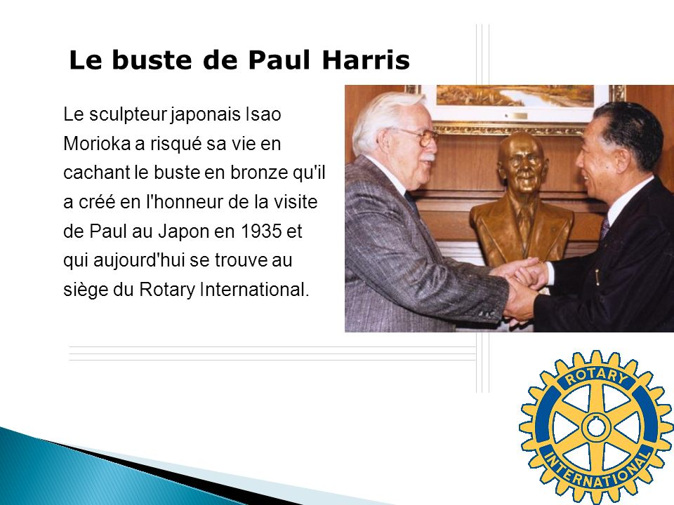 Le buste de Paul Harris