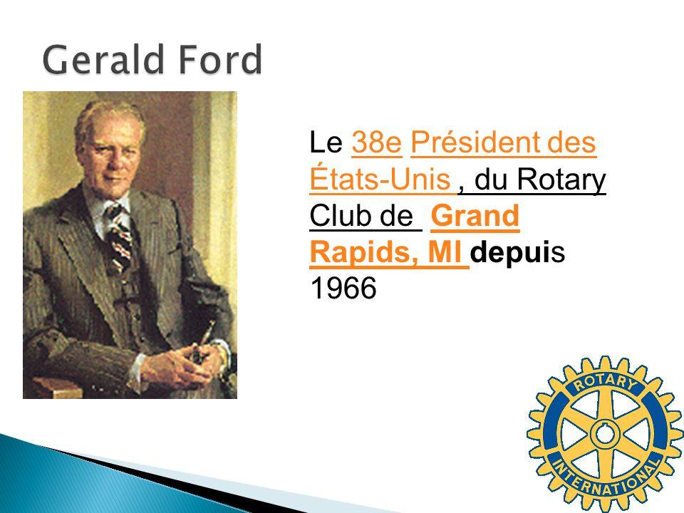 Gerald Ford Le 38e Président des États-Unis , du Rotary Club de Grand Rapids, MI depuis 1966