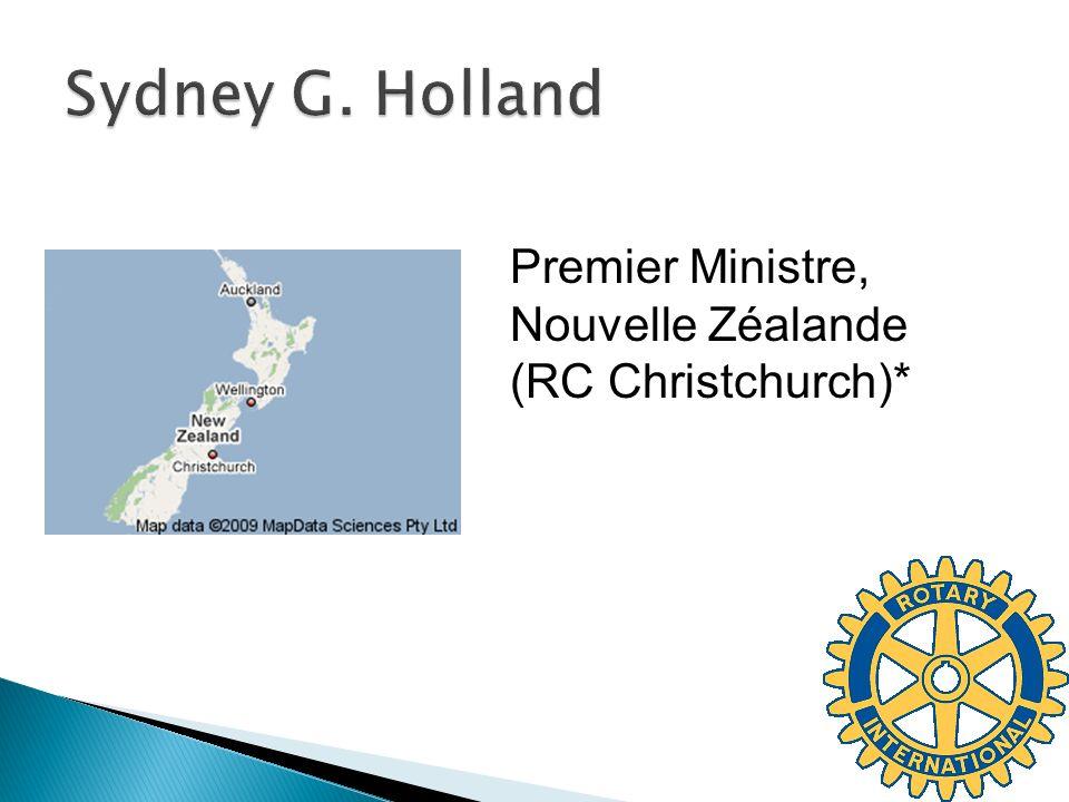 Sydney G. Holland Premier Ministre, Nouvelle Zéalande