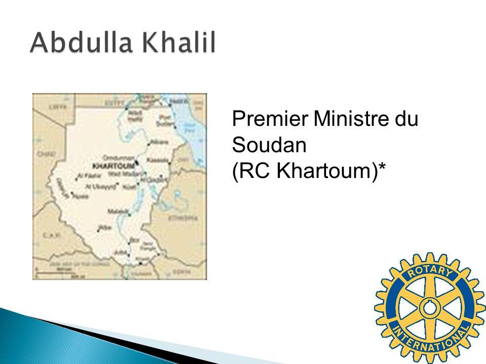 Abdulla Khalil Premier Ministre du Soudan (RC Khartoum)*