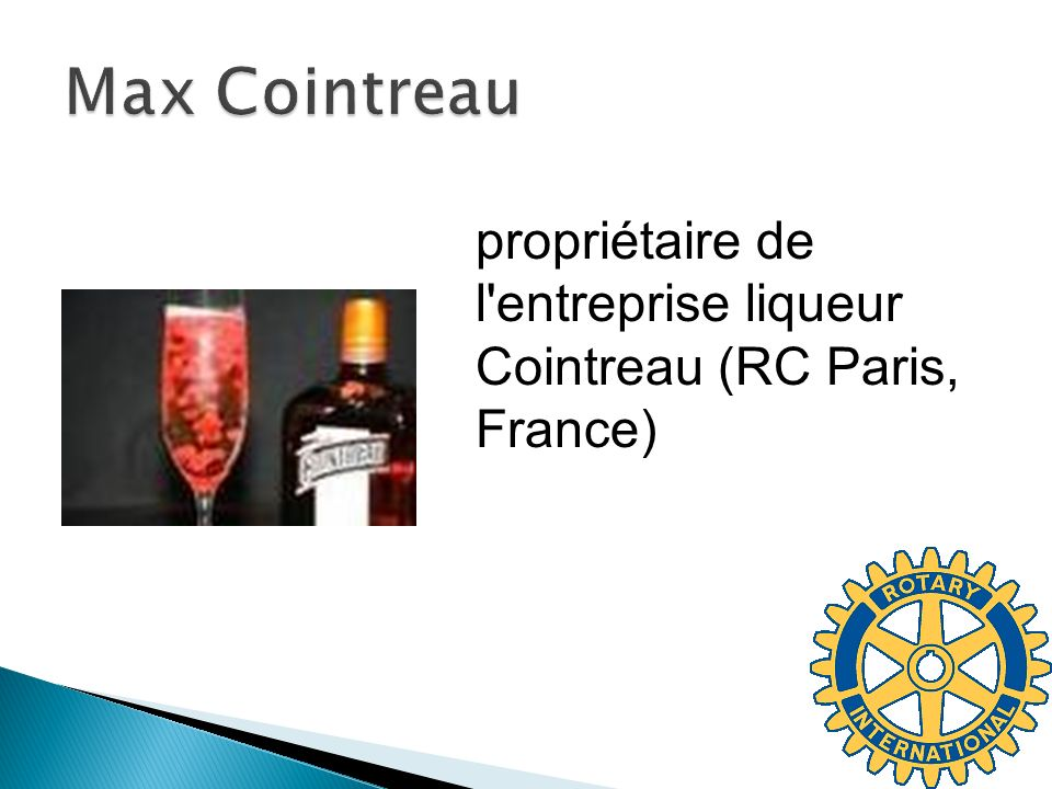 Max Cointreau propriétaire de l entreprise liqueur Cointreau (RC Paris, France)