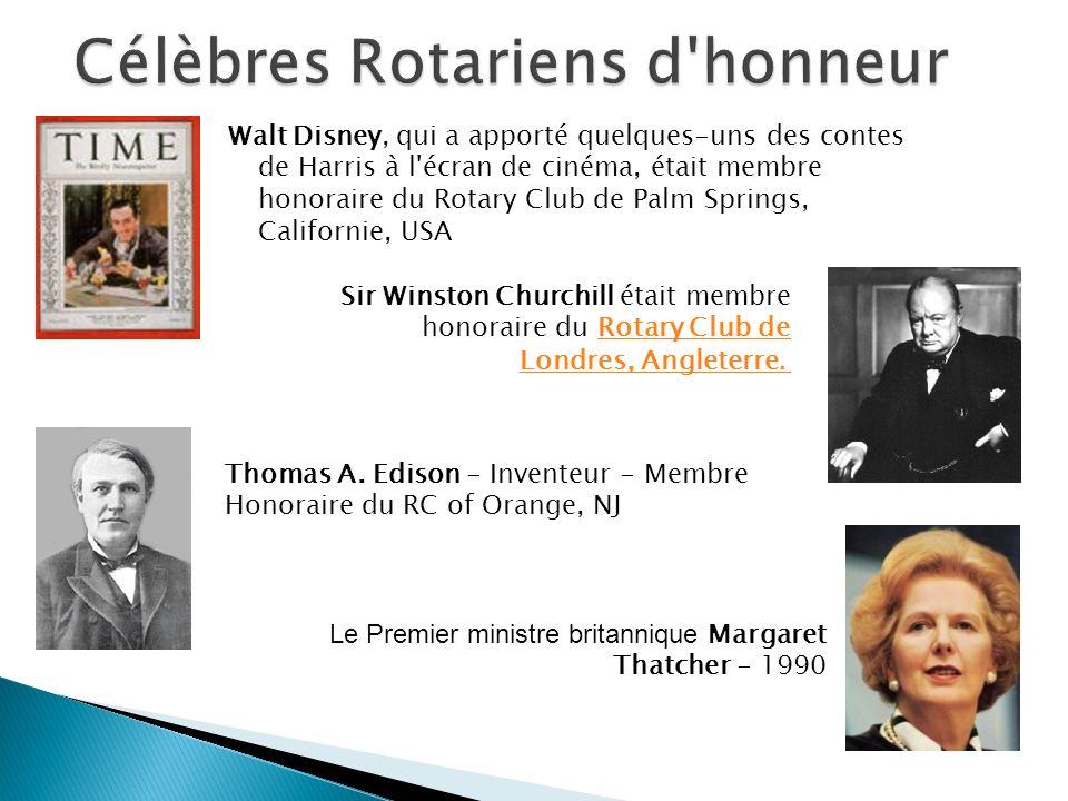 Célèbres Rotariens d honneur