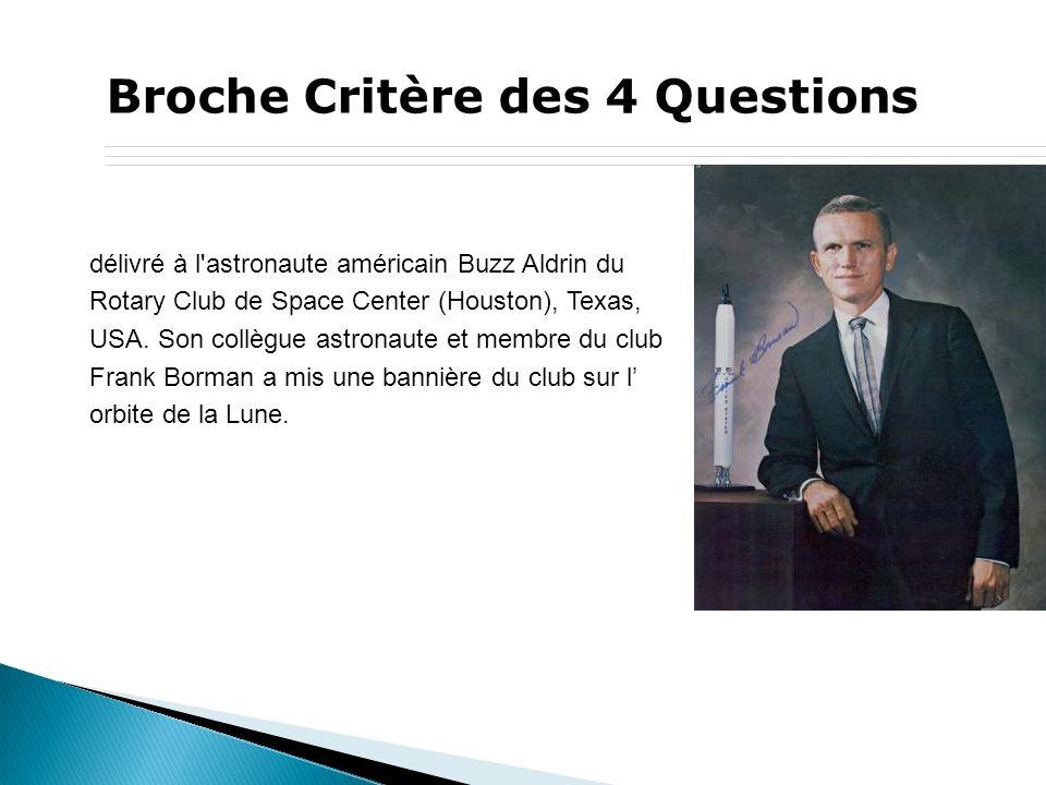 Broche Critère des 4 Questions