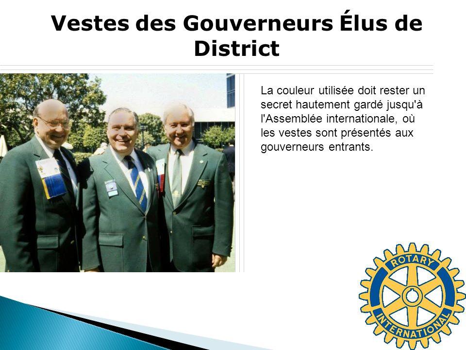 Vestes des Gouverneurs Élus de District