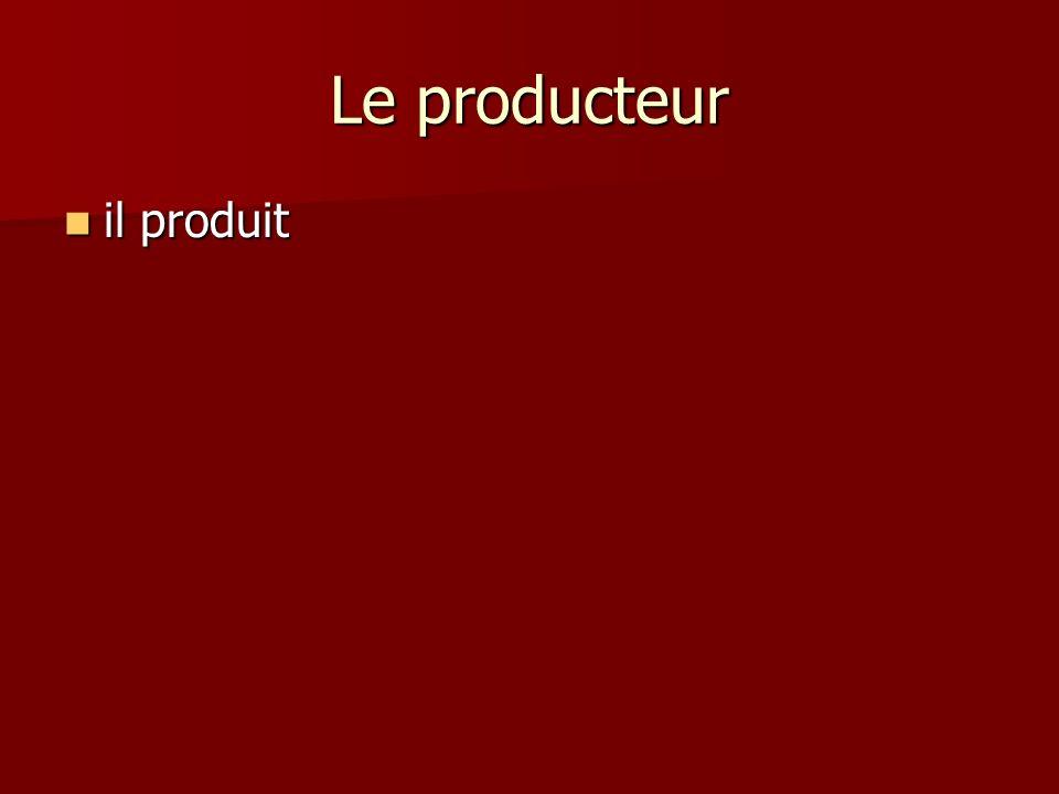 Le producteur il produit