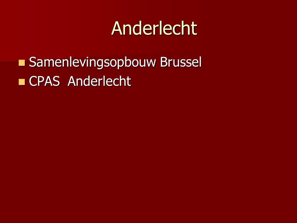 Anderlecht Samenlevingsopbouw Brussel CPAS Anderlecht