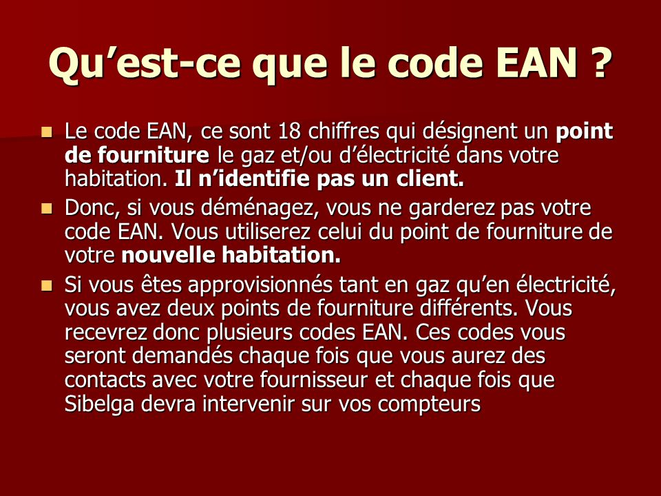 Qu'est-ce que le code EAN