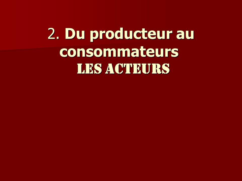 2. Du producteur au consommateurs les acteurs