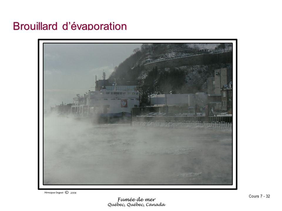 Brouillard d'évaporation