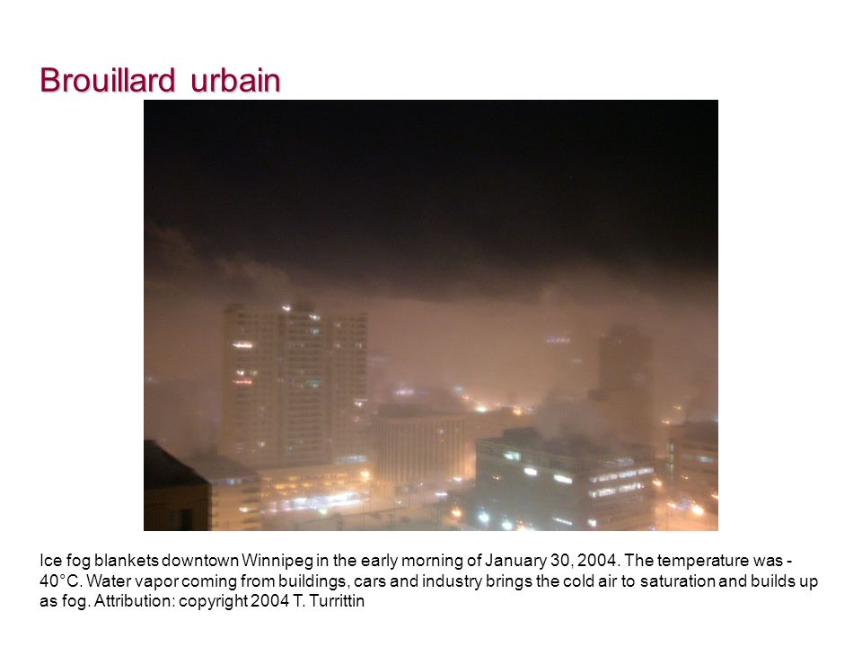 Brouillard urbain