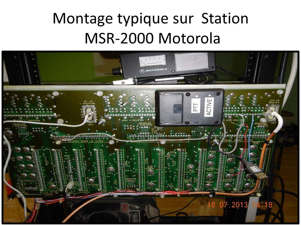 Montage typique sur Station MSR-2000 Motorola