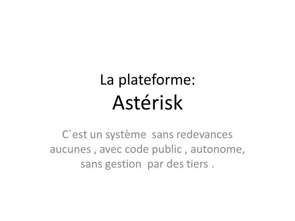 La plateforme: Astérisk