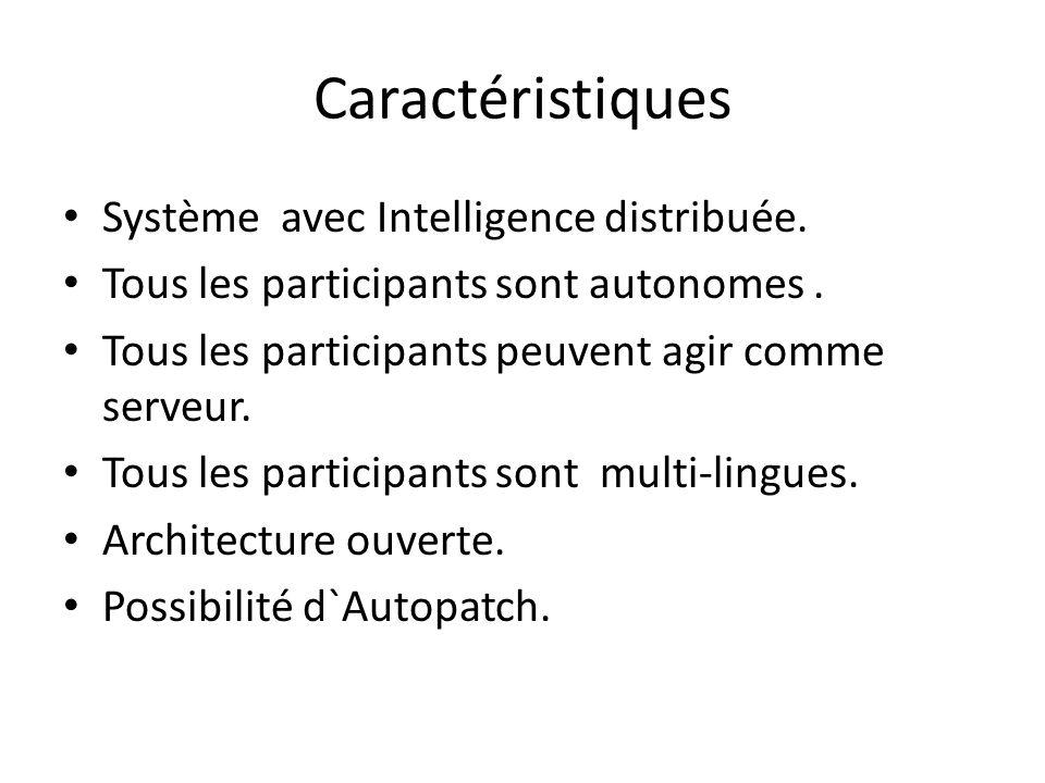 Caractéristiques Système avec Intelligence distribuée.