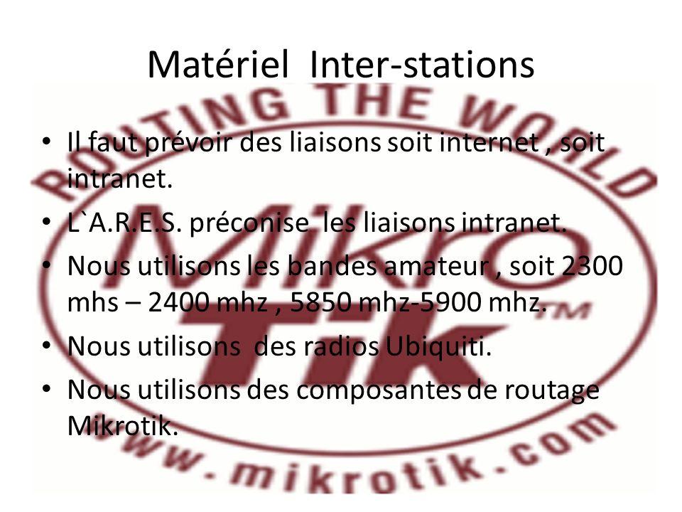 Matériel Inter-stations