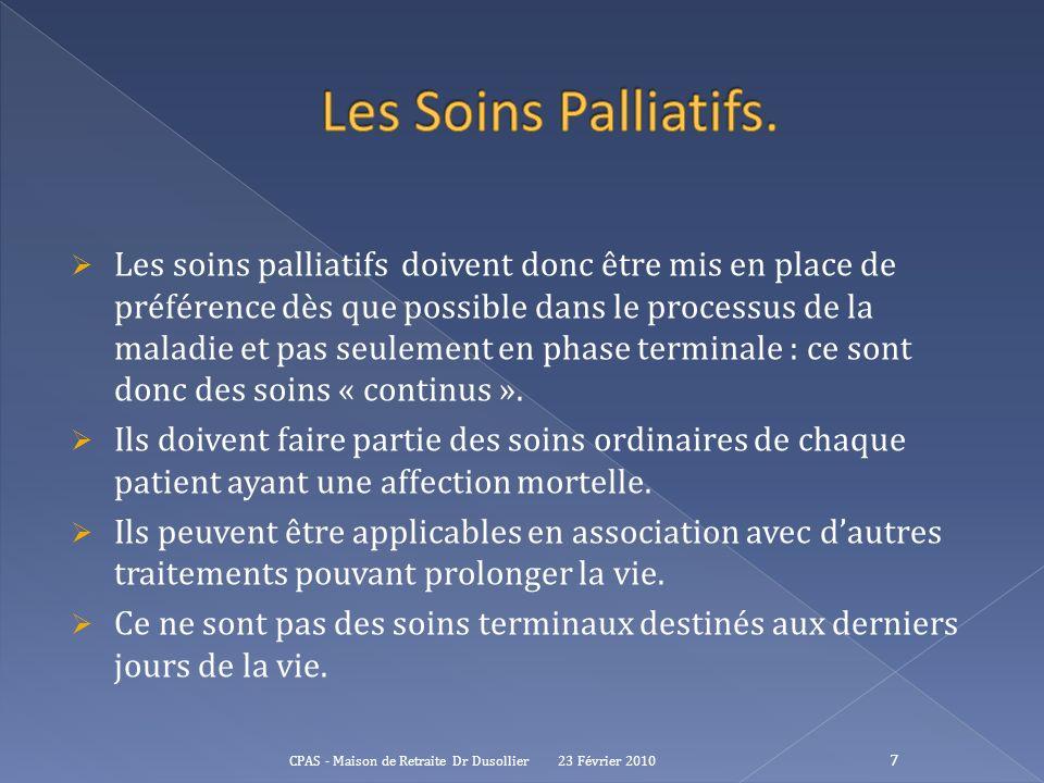 Les Soins Palliatifs.