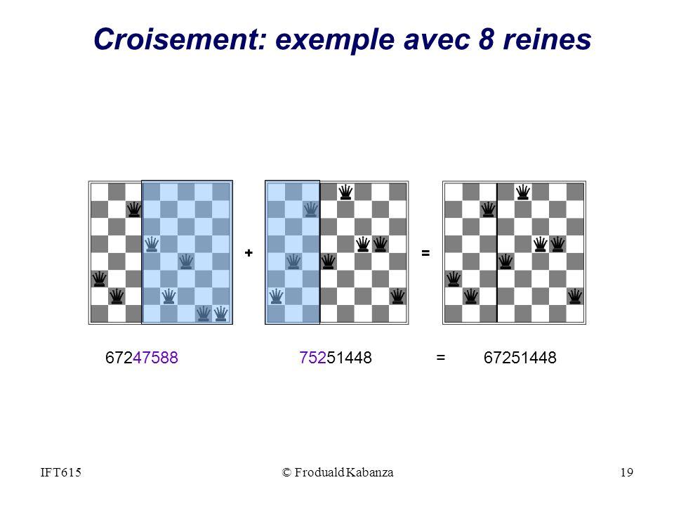 Croisement: exemple avec 8 reines