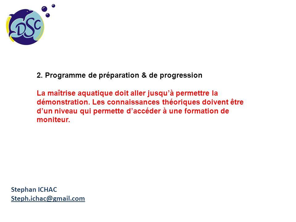 2. Programme de préparation & de progression