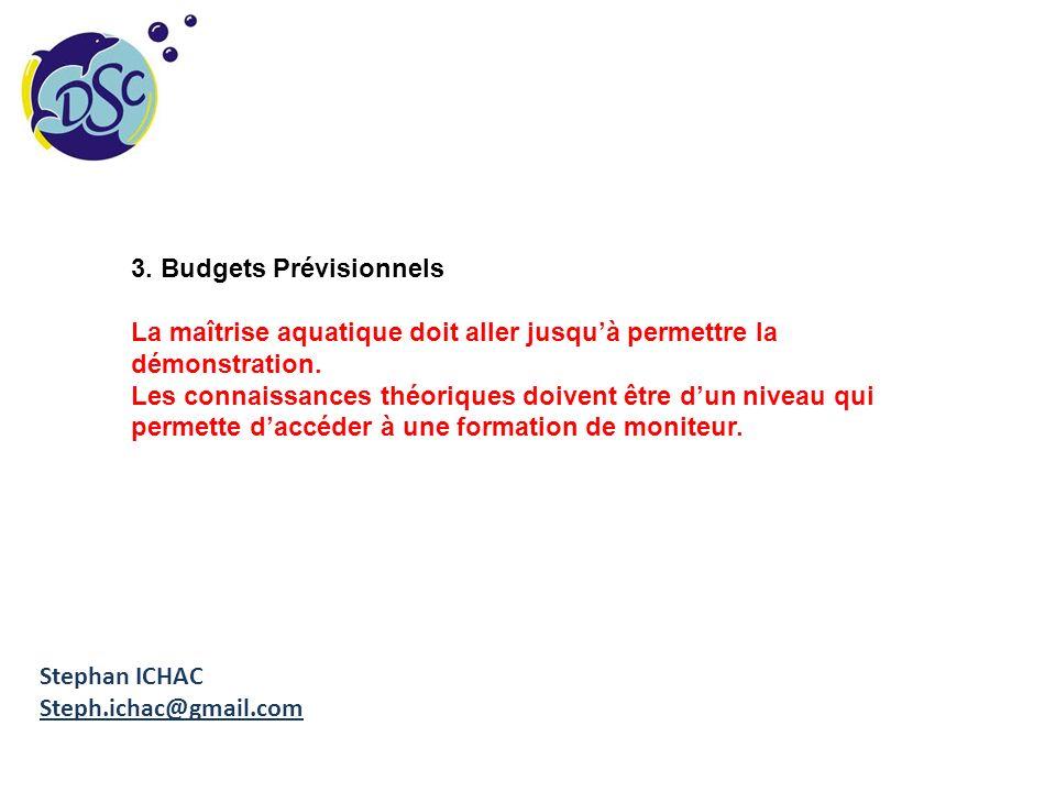 3. Budgets Prévisionnels