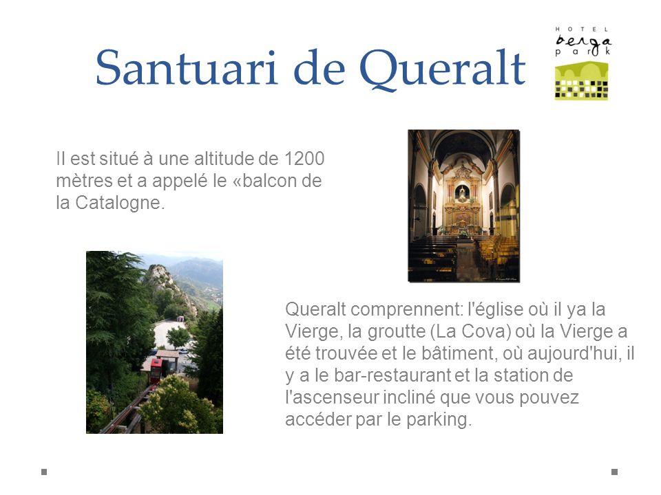 Santuari de Queralt Il est situé à une altitude de 1200 mètres et a appelé le «balcon de la Catalogne.