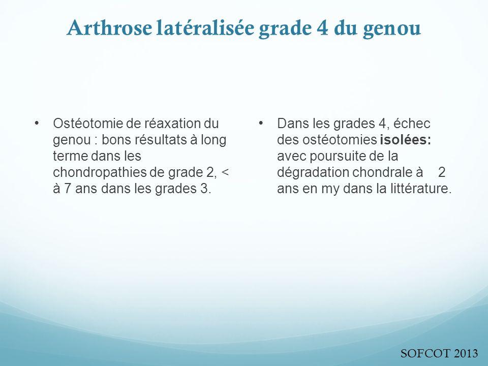 Arthrose latéralisée grade 4 du genou