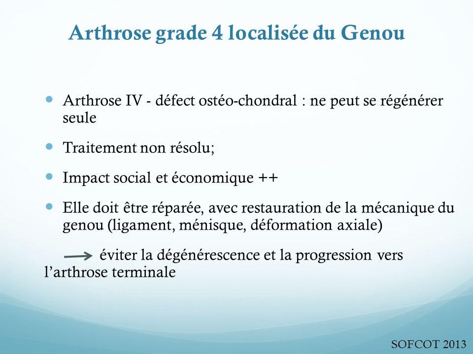 Arthrose grade 4 localisée du Genou