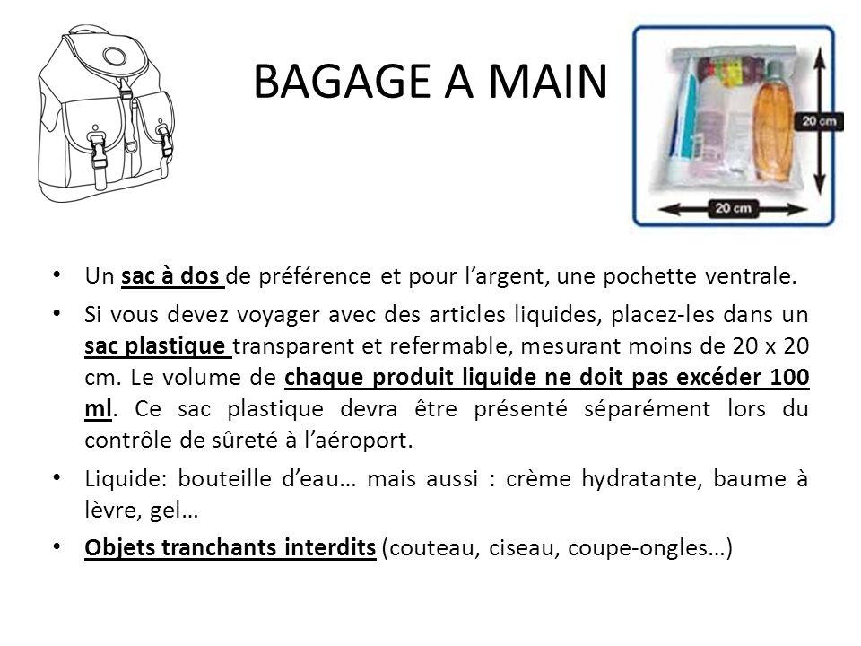 BAGAGE A MAIN Un sac à dos de préférence et pour l'argent, une pochette ventrale.