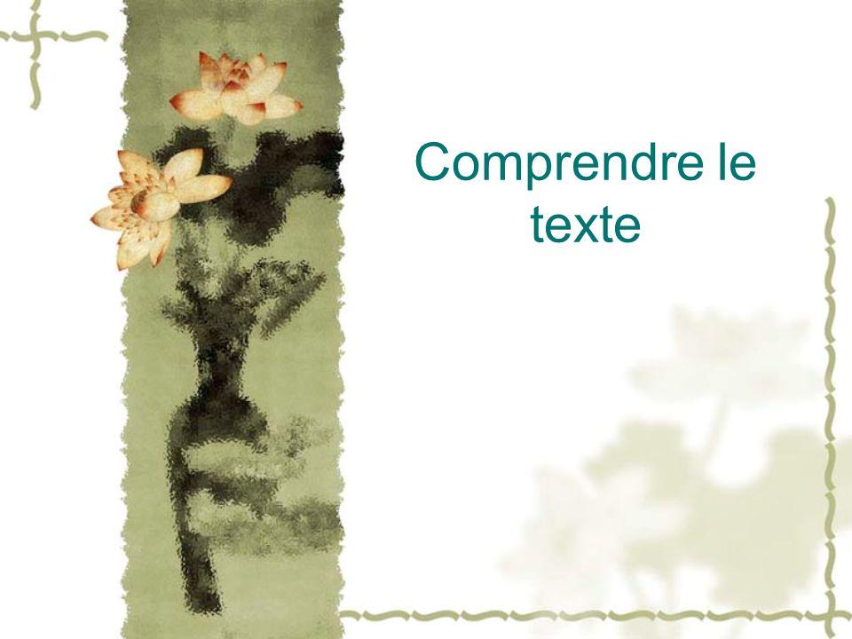 Comprendre le texte