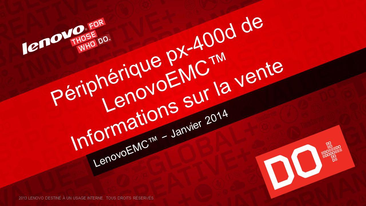 Périphérique px-400d de LenovoEMC™ Informations sur la vente