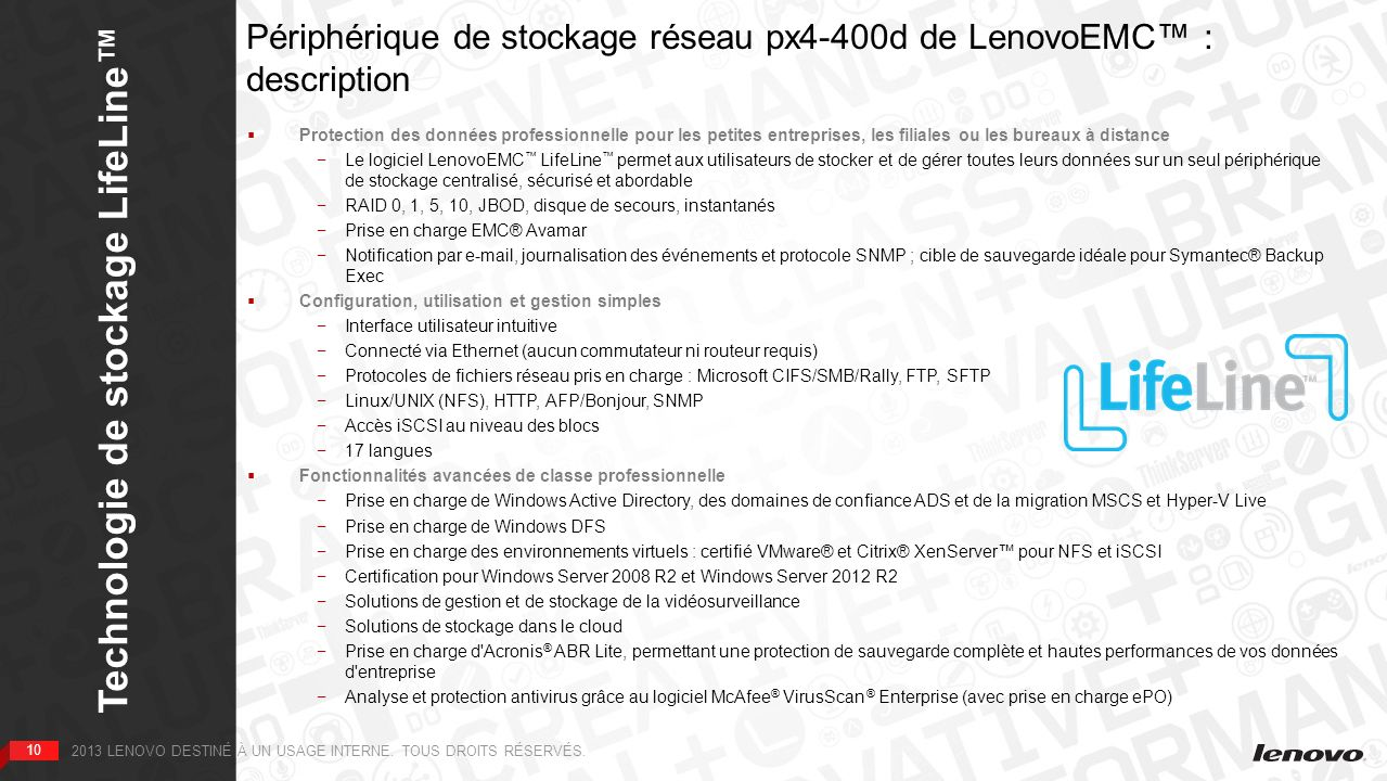 Technologie de stockage LifeLine™