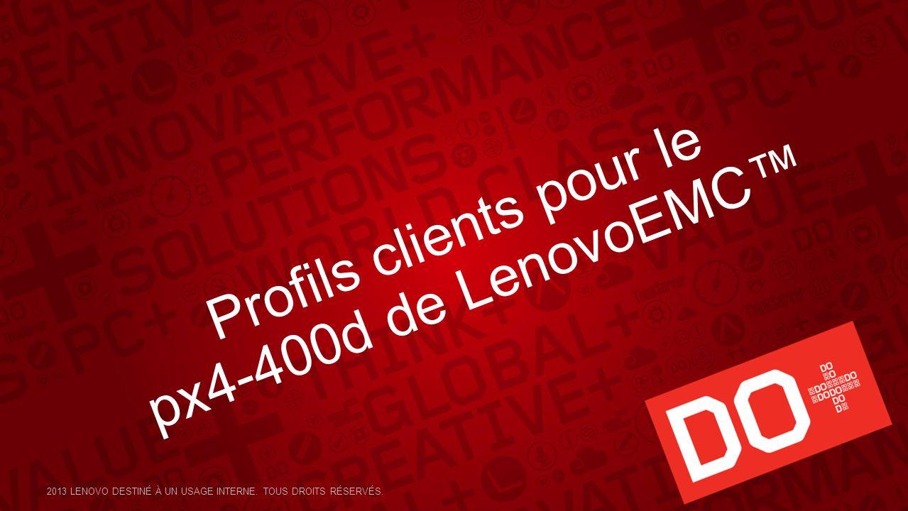 Profils clients pour le px4-400d de LenovoEMC™
