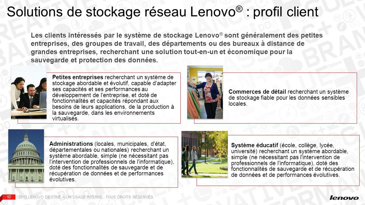 Solutions de stockage réseau Lenovo® : profil client