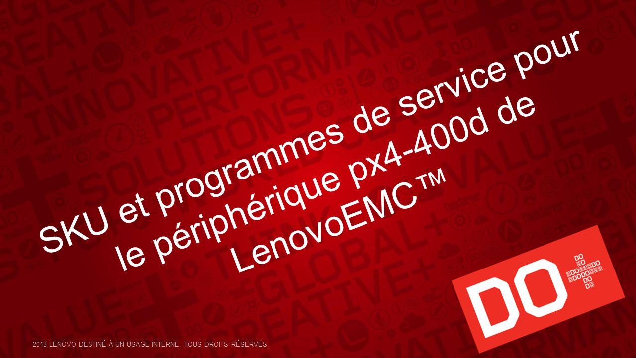 SKU et programmes de service pour le périphérique px4-400d de LenovoEMC™